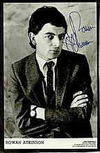 Rowan Atkinson signed 6 x 4 not the nine o'clock news era photo and signed