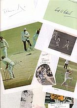 Lancashire Cricket collection 27 players. Autographs include Geoff Edrich,
