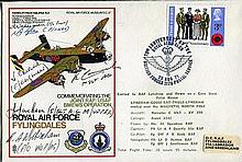 FRIDAY THE 13th CREWSIGNED: RAF Flyingdales cover depicting a Halifax bomb