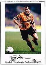 Steve Bull autographed football photo. High quality colour 16x12 inch photo