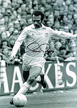 Paul Reaney autographed football photo. High quality black and white 16x12