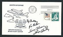 Shuttle Test Flight signed cover NASA Fulton, Horton, Alvarez and Guidry -