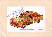 Steph Dekker signed picture of Patchwork New York Yellow Taxi  Good condit