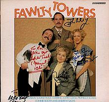 Fawlty Towers cast signed record. LP of the Fawlty Towers soundtrack, signe