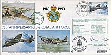 617 SQUADRON: 75th anniversary ofthe RAF cover signed by Group Captain Jam