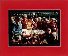 1966 England World Cup team signed photo. Colour 8x10 photograph autographe