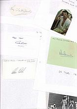 England Cricket 40 Test Bowlers autographs include Sir Alec Bedser, Les Jac