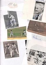 Surrey Cricket collection 20 players. Autographs include Sir Alec Bedser, S