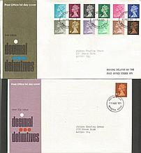GB FDC a lot of duplication approx 300 definatives 1967/1982  a lot of Wind