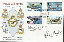 Douglas Bader and Laddie Lucas signed cover. Scarce 1978 Royal Air Force Di