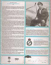 Signature and Canadian Fighter Ace profile of Squadron Leader Harry Dowdin