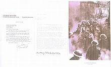 George Rodger signed letter. (1908-1995) he wasahighly celebrated and res