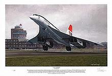 Concorde Limited edition signed print, slightly damaged: A New Age Begins.