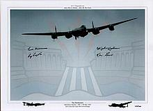 Dambuster Veterans Signed Print. Stunning limited edition 16x12 photograph
