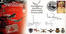 Ian Fraser, Vera Lynn and Earl Haig signed cover. 2000 National Ex-Prisoner