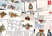 Assorted RAF Covers and Cards. 14 items consisting of 7 Royal Engineers pos