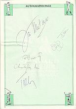 Celebrity autographs official souvenir programme from the London Standard
