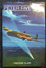 Bomber Command Veterans signed book. Hardback edition of Peter Five by Fred