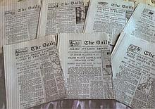 40 UNSIGNED wartime editions of The Daily Telegraph.1939(1)1940(2)194