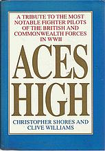 WWII Aces autographed large book 3. Aces High – a tribute to the most notab
