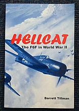 US Fighter Aces signed book. Hellcats - The F6F in World War Two accompanie
