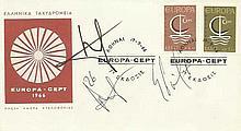 - Giorgos Karagounis & Stelios Giannakopoulos Greek footballers signed 196