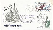 Concorde Flown Pair of Covers 3. 1983 Air France first flight from Paris to