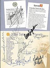 2006 National Football Museum Hall of Fame Awards Ceremony programme. Signe
