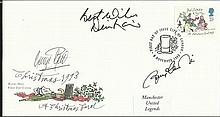 Manchester United Football Legends signed cover. Christmas 1993 cover signe