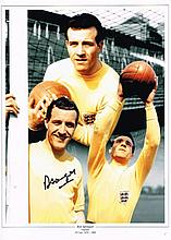 Ron Springett autographed football photo. High quality colour 16x12 inch ph