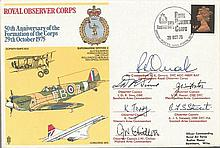 Six Commanders inc Air Cdr Orrock DFC signed SP10 50th Ann Formation of th