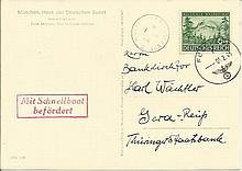 Channel Islands WWII Occupation card. 1944 Hitler's Occupation of Jersey on