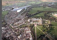 Concorde Over Windsor Castle signed by Mike Bannister. Chief Concorde Pilot
