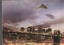 Concorde Over New York signed by Mike Bannister. Chief Concorde Pilot Mike