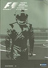 Formula One Multisigned 2003 Silverstone Grand