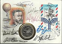 1966 German World Cup Team signed 1991 German Coin