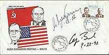 George Bush & Mikhail Gorbachev signed 1989 Malta