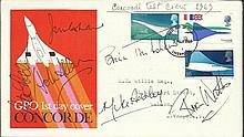 1969 First Concorde Flight Crew Rare signed FDC.
