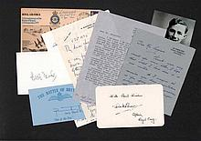 Collection of Battle of Britain autographs. Over 30 signed letters, pieces