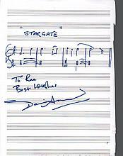 David Arnold signed film score for Stargate. Good condition