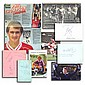 Football signed collection of album pages,