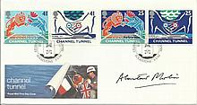 Alastair Morton signed 1994 Channel Tunnel FDC with Folkestone special post