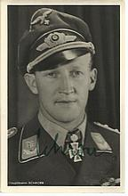 Werner Schröer KC OL S signed 6 x 4 wartime Hoffman portrait photo (12 Febr