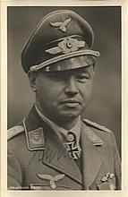 Major Hans Assi Hahn KC OL signed 6 x 4 wartime Hoffman portrait photo. Maj