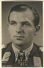 Herbert Ihlefeld KC OL S signed 6 x 4 wartime Hoffman portrait photo. (1 Ju