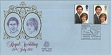 1981 Royal Wedding FDC Peter Scot cover Chingford Old Church Special Postma