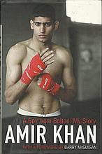 Amir Khan signed hardback book signed autobiography. Good Condition