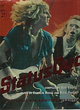 Francis Rossi & Rick Parfitt signed to inside page of large hardback book S
