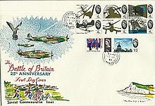 1965 Battle of Britain 25th anniversary FDC large Cover with White cliffs o