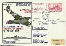Col Pat Porteous VC signed Operation Jubilee Dieppe Raid cover, his Victori